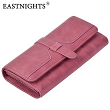 EASTNIGHTS Genuine Leather Women Wallets Luxury Brand 2017 New Design High Quality Fashion Girls Purse Card Holder TW2645(China)