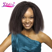 Lydia For Black Women Synthetic Hair Extension Short Kinky Straight Weaving Pure Color 10 Inch Hair Wave 1PCS/Pack Hair Bundle(China)