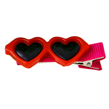 Fashion Pet Dog Hair Bows Clips Love Style Doggie Boutique sunglasses Pet Grooming(Red)