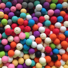 YYW 100PCs Teeth Beads DIY for Necklace Bracelets Baby Babies Teethers Accessories Food Grade Chewing Mom Jewelry Silicone Beads(China)
