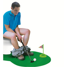Potty Putter Toilet Golf Game Mini Golf Set Toilet Golf Putting Green Novelty Game For Men and Women