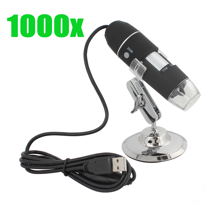 1000X 2MP USB Electronic Digital Microscope with Stand Used in Jewelery &amp; Stamp / Biological / PCB / Textile etc Inspection<br><br>Aliexpress