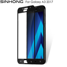 For Samsung Galaxy A3 2017 A320 Tempered Glass Screen Protector 9H Full Coverage Protection Film Transparent With Retail Package
