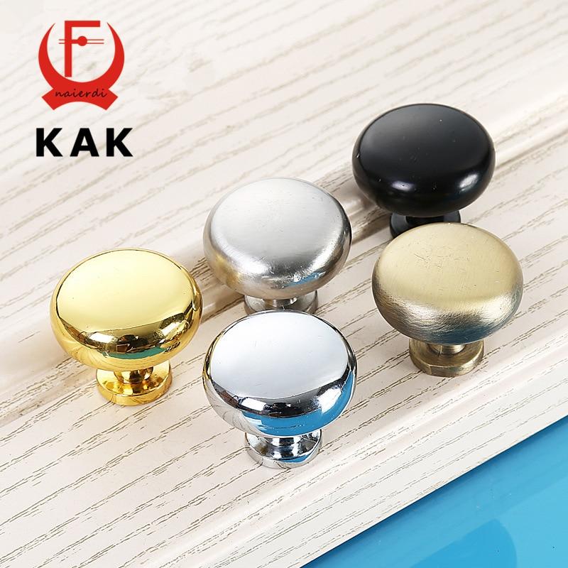 KAK 2.9X2.5CM Size Zinc Alloy Solid Cabinet Drawer Knobs Simple Wardrobe Door Pull Circle Handles Modern Furniture Hardware <br><br>Aliexpress