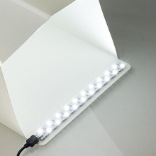 LED Light Strip 20CM 35CM Photo Studio Lighting Soft Box Shooting Simple Tent Closet Lightbox Photography Box Studio Accessories(China)