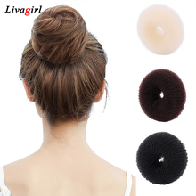 1PC New arrival Women Magic Blonde Donut Hair Ring Bun Former Shaper Hair Styler Maker Tool Hair Accessories One Size(China)
