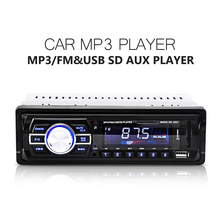 High Performance Car Radio Auto Audio Stereo Support FM SD MP3 Player AUX-IN USB with 12V Remote Control for Vehicle Audio Radio(China)