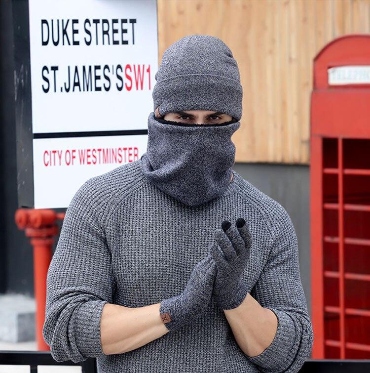 scarf gloves hat set women men winter scarf hat set winter hat scarf and glove set smart touch screen texting gloves set (19)
