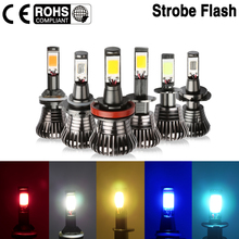 2X Fog Light Bulbs 80W H8 H9 H11 H1 H3  H7 9005 HB3 9006 HB4 880 881 Led Strobe Flash Pink white Ice Blue Yellow Golden Amber