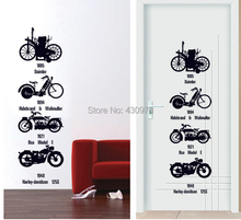 1 set DIY Wall Stickers Motorcycle Develop History Black Motorbike Wallpaper Art Wall Decoration(China)