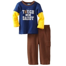 Rugby Children Clothes suits Boys Sport clothing sets Pajamas Long Sleeve Kids t-shirts pants TOP QUALITY 100% Cotton