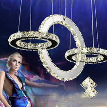 Hot Diamond Ring Style LED Crystal Chandelier Light Modern Lamp Circle Lights Luxury Clear Glass Bedroom Chandeliers Lighting