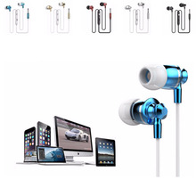 2016 New Metal Hot Sale 3.5mm Headsets Earphones Headphone Super Bass Stereo Earbuds with Mic for mobile phone MP3 MP4 M300