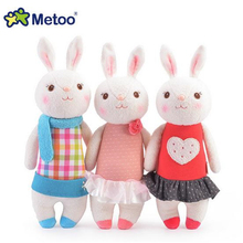 2017 New Arrival Lovely Metoo Rabbit Plush Doll Baby Kids Toys Soft Doll For Baby Boys Girls Gifts J702(China)