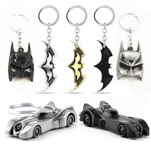 Batman v Superman Mask Car X-Men Hulk Fist Loki Wot Game 3D World of Tanks Bullet Souvenir Metal Keychain Keyring Movie(China)