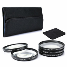 52mm Close-up Filter Ring +1 +2 +4 +8+10 in Sets For SLR / Digital Camera+Cloth(China)