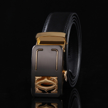 2017 Fashion designer real leather belts for men luxury genuine automatic buckle belt gold cowhide strap high quality ceinture