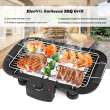 Household Electric Barbecue Grill Cooking Broiler Garden Black Smokeless BBQ Indoor Grill Electric Pan Grill BBQ Grill