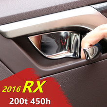 Buy Stainless Steel Styling Inner Door Handle Door Bowl Protect Cover Trim Sticker Car Accessories Lexus RX 200t 450h 2016 ) for $29.98 in AliExpress store