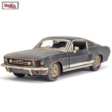 Maisto 1:24 1967 Ford Mustang GT The Old Version Alloy Car Model Diecast Metal Car For Kids Gift Toys Collection Free Shipping(China)