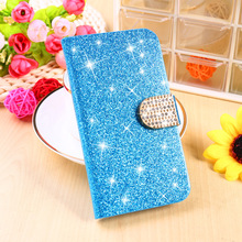 Diamond Glitter Bling Cell Phone Cases For Samsung Galaxy ATIV S I8750 Covers 8750 Shell Wallet Housing Bags Stand Flip Shield
