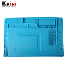 Kaisi S-160 45x30cm Soldering Station Iron Phone PC Computer Repair Mat Magnetic Heat Insulation Silicone Pad Desk Platform new