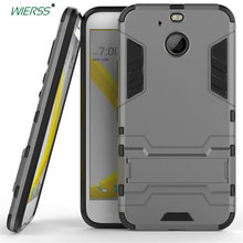 For HTC 10 evo /HTC Bolt 3D Shockproof Stand hard case For HTC 10 evo /HTC Bolt Slim Combo Armor case shell Back cover