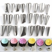 Cake Decorating Icing Stainless SteelPastry Piping Nozzles Tips Set Decorating Pen 24 pcs Cake Tools (Without Box)