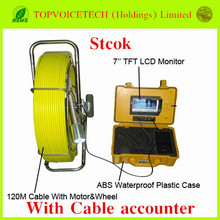 120m Pipe Wall Sewer Inspection Camera System with Cable accounter,endoscope camera system,waterproof Sewer detection camera