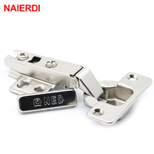 4PCS NAIERDI Self Elasti Half Overlay Hinge Cupboard Cabinet Kitchen Door Hinge 35mm Cup Special Spring Hinge For Home Hardware