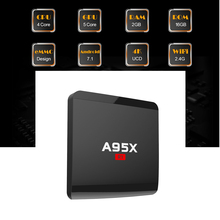 Original A95X R1 Smart TV Box Amlogic S905W Quad core 32 Bit Cortex A53 4K tvbox 2.4GHz WiFi Set top Box(China)