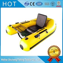 Yellow inflatable fishing boat high quality pvc boat china with inflatable boat accessories/seats boat(China)
