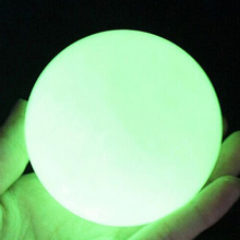 EZLIFE Natural luminous Ishihara Specimens Mineral Crystal Blue Luminous Ball Fluorescent Pearl Jewelry Gift Decoration Craft(China)