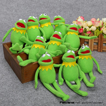 Sesame Street Kermit The Frog Plush Toys Soft Stuffed Animal Dolls with Ring Pendant Dolls 15cm 10pcs/lot(China)