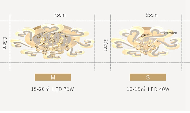 European Style LED Ceiling Chandeliers Lights For Living Room Dinning Room Restaurant Crystal Acrylic Luxury Chandelier Lamp (8)