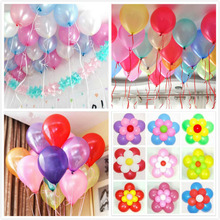20pcs/lot 10inch1.2g Latex balloon Helium Pearl ballons clips for balloon flower shiny ribbon for globos birthday Classic toys