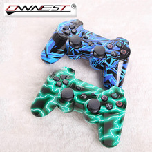 Ownest 2x NEW Style Bluetooth 4.0 Wireless Bluetooth Blue Green stripe Game Joypad For Sony Play Station 3 PS3 Controller(China)