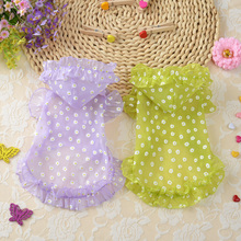New 2016 Summer Dog Clothes  printing Cute Princess  Dress Sunscreen clothing Dog For Pet Clothes Supplies C28