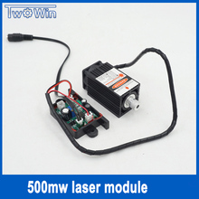 500mw 405NM focusing blue purple laser module engraving,with TTL control laser tube diode+protective googles(China)