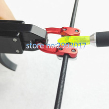 2017 Hot Sale Aluminum D Loop Compound bow Release Bow String Nock D Loop D Ring U Nock Bowstring Safety Release 3 colors
