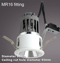 2.5 inch 2.5'' MR16 fixture downlight bulb trim recessed fitting lamp fixture MR16 bulb holder