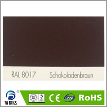 hybird polyester epoxy resin spray powder coating RAL8017 Chocolate Brown