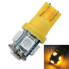 T10 5050 SMD 5 LED Wedge Tail Car yellow orange Light Bulb 194 168 W5W 12V