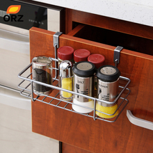 ORZ Multifunctional Iron Over Door Storage Rack Kitchen Cabinet Drawer Organizer Door Hanger Storage Basket Kitchen Tools(China)