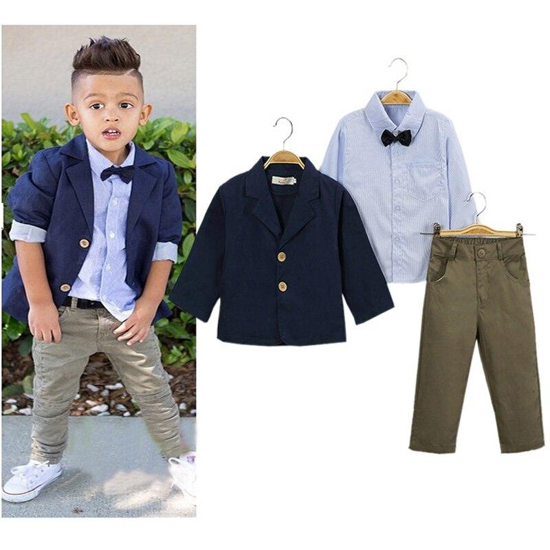 Striped Boys Clothing Set Kids Clothes long-sleeve Suit 2017 Spring Autumn New Arrival Children Clothing Toddler roupas infantis<br><br>Aliexpress