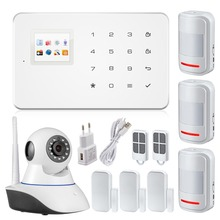 G18 GSM SMS Alarm au-dial Sensor alarm Systems Security home  TFT APP control PIR Motion Sensor door sensor+wifi ip camera