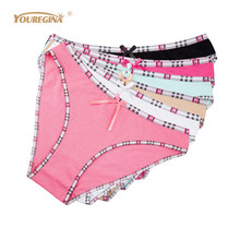 Buy YOUREGINA Woman Panties Cotton Briefs Women Boxer Womens Underwear Bragas Intimates Sexy Panty Culotte Femme Knickers 6pcs/lot