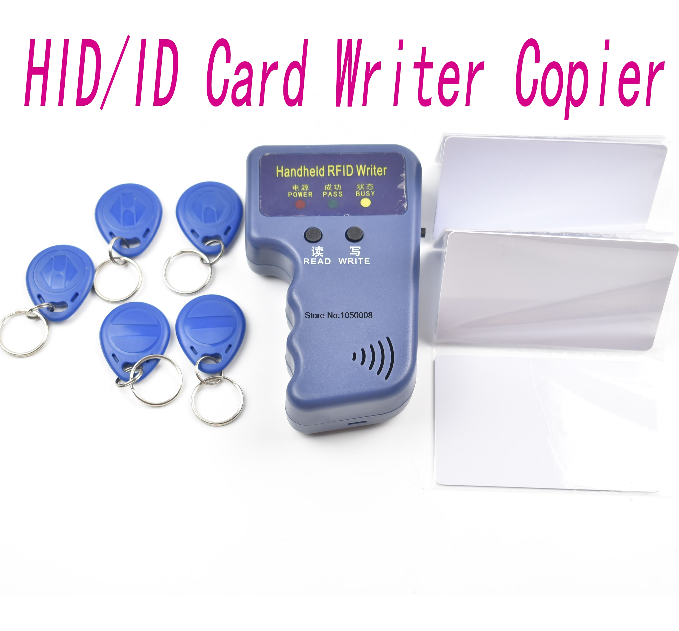 125khz handheld portable Reader writer cloner copier programmer to backup copy clone ID/HID card with writable t5577 card keyfob<br><br>Aliexpress