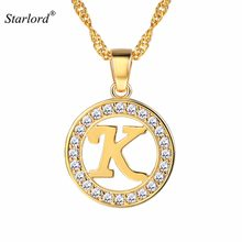 Initial Letter K Necklace Cubic Zirconia Gold/Silver/Black Personalized  Alphabet Jewelry 26 Letters For Women Gift P8164