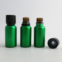 24 x 20ML Glass Essential Oil Bottles With black Save Child Proof Cap Stopper 20cc Cosmetic Glass Containers(China)